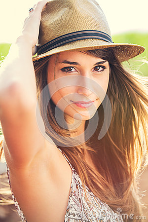 Beautiful portrait of gorgoues young woman