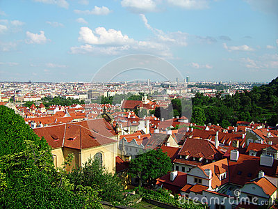 Beautiful view of the Prague