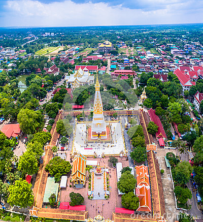 Free Beautiful Prathat Phanom Pagoda At Kong River Royalty Free Stock Photo - 93775575