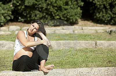 Beautiful pregnant woman relaxing