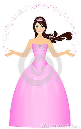 Beautiful Princess in pink