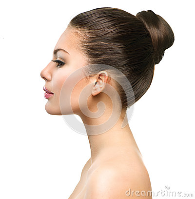 Free Beautiful Profile Face Of Young Woman Royalty Free Stock Photo - 40988715