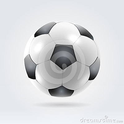 Beautiful realistic classic soccer ball