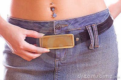 Beautiful rectangular buckle with free space on it