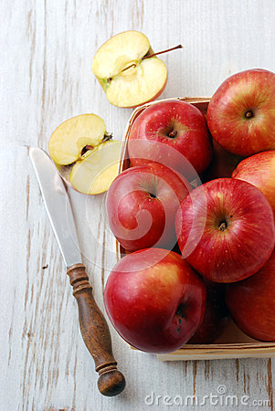 Beautiful red apples