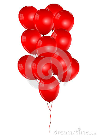Free Beautiful Red Balloons Stock Image - 28725321