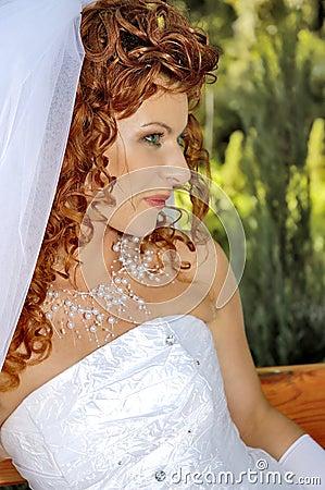 Beautiful red-hair fiancee