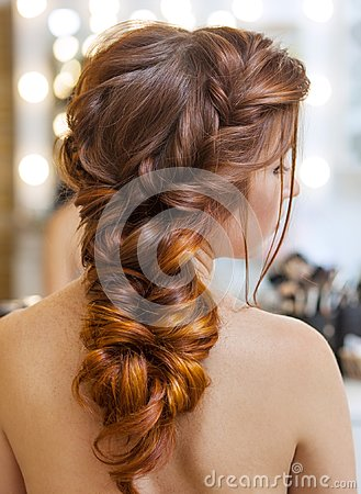 Free Beautiful, Red-haired Girl With Long Hair In A Beauty Salon. Royalty Free Stock Photography - 103152857