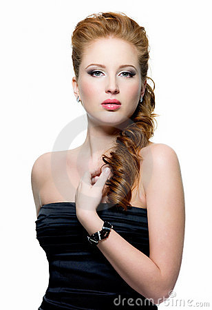 Beautiful red-haired woman portrait