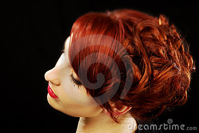 Beautiful red hairstyle