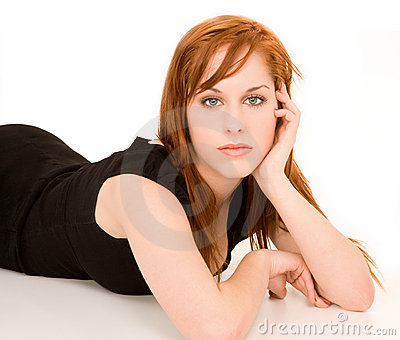 Beautiful Redhead Girl Portrait