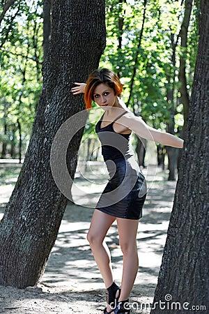 Beautiful redhead girl posing