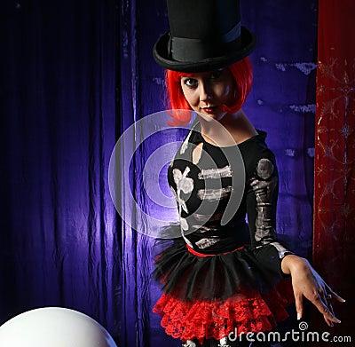 Free Beautiful Redhead Performer Royalty Free Stock Photos - 2389488