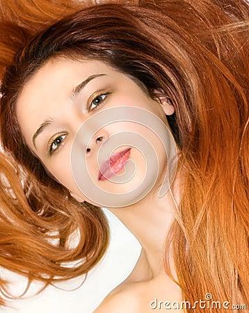 Beautiful redhead woman