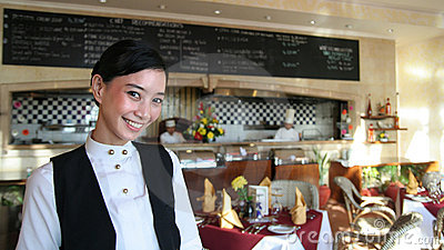 Beautiful restaurant staff