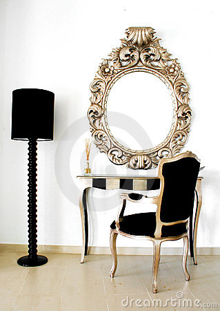 Free Beautiful Retro Baroque Mirror Royalty Free Stock Images - 5746389