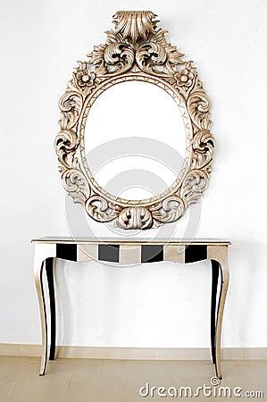 Free Beautiful Retro Baroque Mirror Stock Photo - 5746570