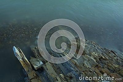 Beautiful rocks near the shore