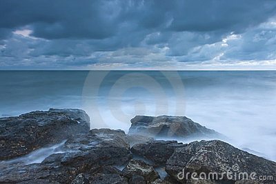 Beautiful rocky sea beach