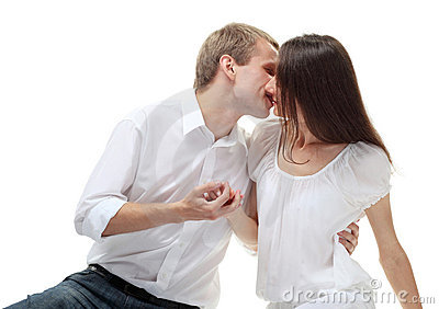 Beautiful romantic couple in love
