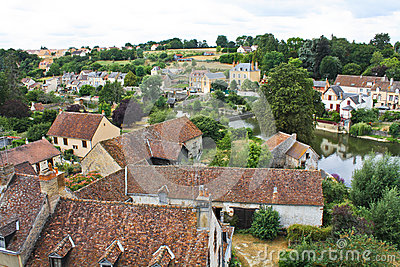 Beautiful roof of French village