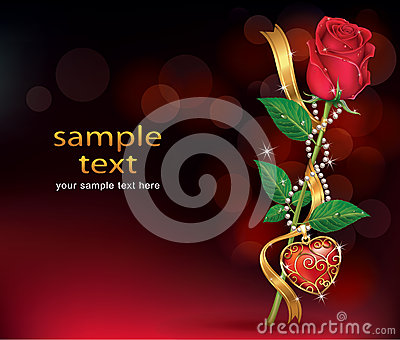 Beautiful Roses With Ribbon and Necklet