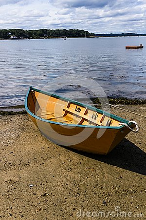 Free Beautiful Row Boat On The Beach Ready To Launch Stock Photo - 119251020