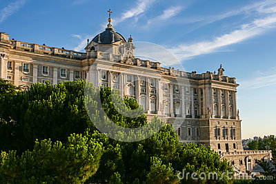 Beautiful Royal Palace of Madrid in Spain
