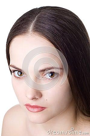 Free Beautiful Sad Brunette Royalty Free Stock Photography - 5272237