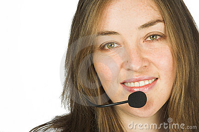 Beautiful sales representative - customer service girl