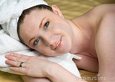 Beautiful Salon Woman Relaxing at Spa