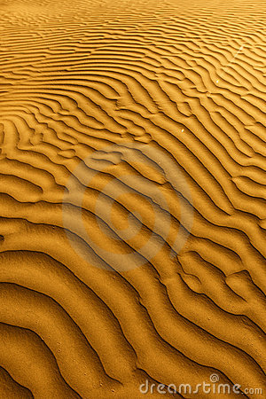 Beautiful Sand Dune Formations in Death Valley