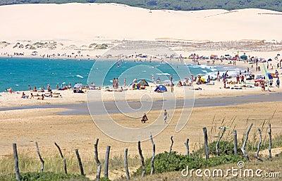 Beautiful sandy beach in Tarifa southern Spain