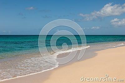 Beautiful Sandy Tropical Beach and Ocean Seascape