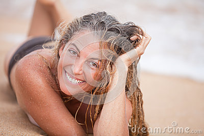 Beautiful Sandy Woman