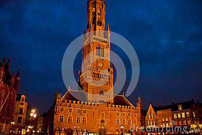Beautiful Scene in, Brugge Belgium Editorial Stock Image