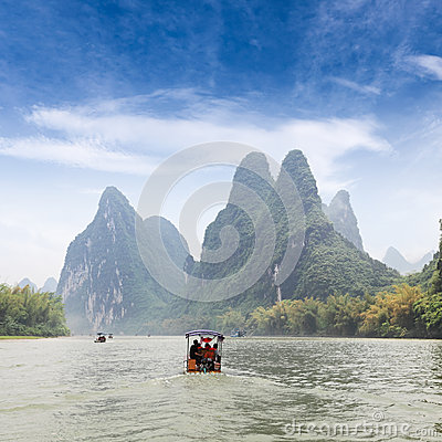 Beautiful scenery of lijiang river
