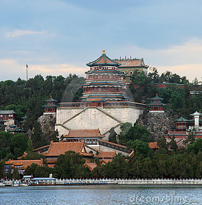 Beautiful scenery, The Summer Palace at dusk