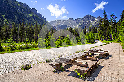 Beautiful scenery of Tatra mountain