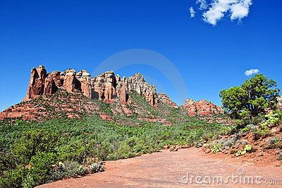 Beautiful scenic red sandstone rock landscape