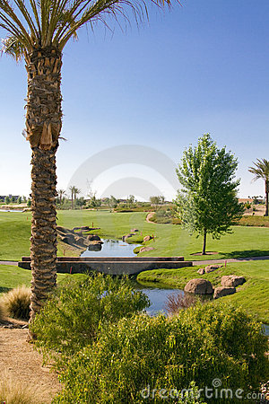 Free Beautiful Scenic Southwest USA Desert Golf Course Royalty Free Stock Photography - 19434977
