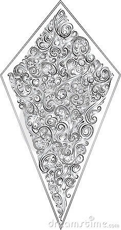 Beautiful Scroll Crest