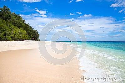 Beautiful sea and coastlines of Gili Meno