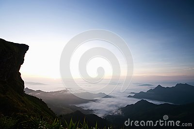 Beautiful sea of fog in Thailand