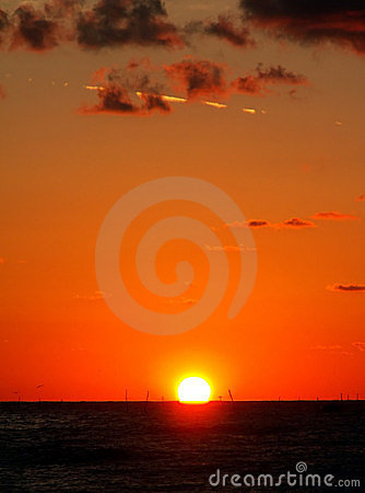 Beautiful sea sunrise