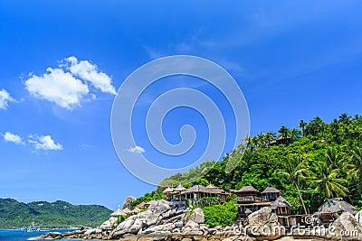 Beautiful sea on tropicla island with crystal clear water