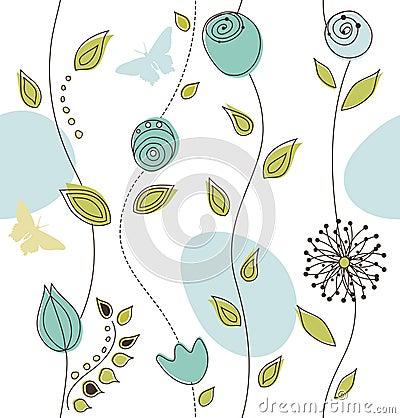 Free Beautiful Seamless Floral Pattern Royalty Free Stock Image - 12045686