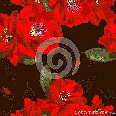 Beautiful seamless floral pattern