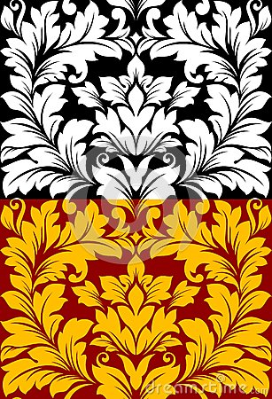 Beautiful seamless pattern in retro damask floral