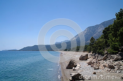 Beautiful seascape of mediterranean waters
